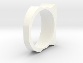 Ring Simples 18.5mm in White Processed Versatile Plastic