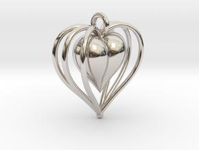 Hearts Cage in Platinum
