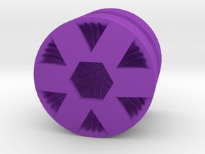 HEX_1814CS - LEGO-compatible Custom Rims in Purple Processed Versatile Plastic