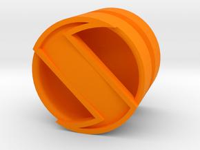 SPINNER_1814CS_LEFT - LEGO-compatible Custom Rims in Orange Processed Versatile Plastic