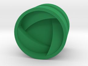 SHIELD_1814CS_RIGHT - LEGO-compatible Custom Rims in Green Processed Versatile Plastic