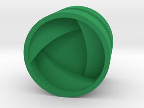 SHIELD_1814CS_LEFT - LEGO-compatible Custom Rims in Green Processed Versatile Plastic