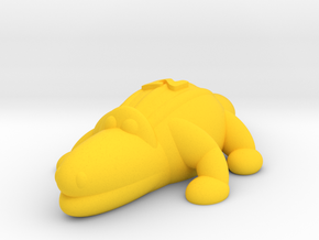 Crocodile (Nikoss'Animals) in Yellow Processed Versatile Plastic