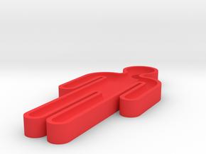 washroom key 50% scale in Red Processed Versatile Plastic