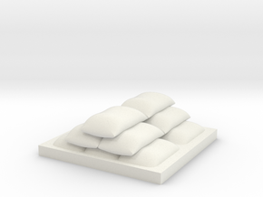 Sack Stack in White Natural Versatile Plastic