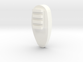 One World Shoulder Pad in White Processed Versatile Plastic