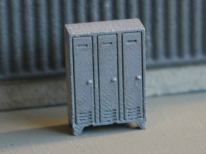 N Scale 5x Lockers in Smooth Fine Detail Plastic