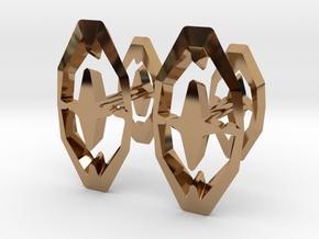 Head To Head 44, Cufflinks  in Polished Brass