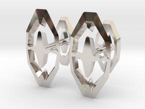 Head To Head 44, Cufflinks  in Rhodium Plated Brass