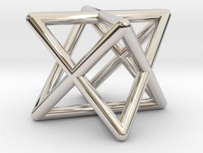 Mini-Merkaba - Rounded - 1cm in Platinum