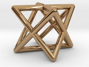 Mini-Merkaba - Rounded - 1cm in Polished Brass