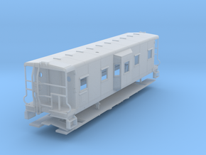 Sou Ry. bay window caboose - Round roof - S scale in Smooth Fine Detail Plastic