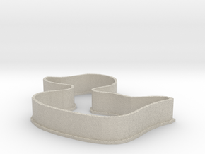 Duckling cookie cutter in Natural Sandstone