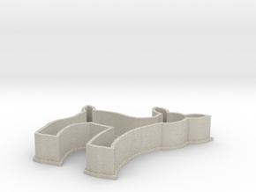 Fawn cookie cutter in Natural Sandstone