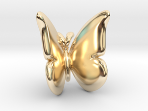 Butterfly 1 - L in 14k Gold Plated Brass