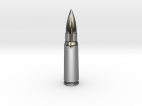 7.62x39 Ammo Blank in Premium Silver