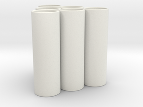 N Cell Charging Adapter 6pack 45mm in White Natural Versatile Plastic