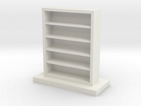 Empty Bookcase in White Natural Versatile Plastic
