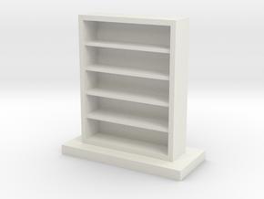 Empty Bookcase in White Natural Versatile Plastic