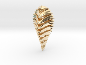 skeleton abstract, pendant in 14K Yellow Gold