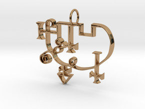 Sigil of Andrealphus in Polished Brass
