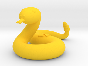 Snake (Nikoss'Animals) in Yellow Processed Versatile Plastic