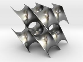 Schwarzcube1 in Natural Silver
