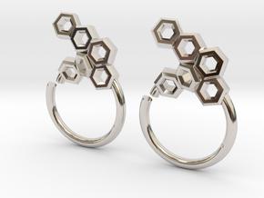 Honeycomb Seam Ring in Platinum