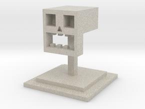 The Cubist Skull in Natural Sandstone