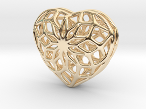 Valentine Heart - Big in 14k Gold Plated Brass