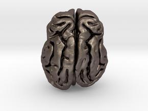 Leopard brain in Polished Bronzed Silver Steel