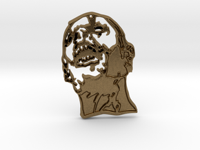 Zombie #1 (unfilled) Pendant in Natural Bronze