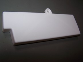 Commodore Amiga CD32 closed Expansion Cover in White Strong & Flexible Polished