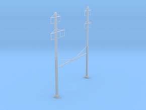 CATENARY PRR 4 TRACK 2-2 PHASE 3 PECO N SCALE  in Frosted Ultra Detail