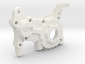 LCG 3 gear Left side gearbox for Associated B5M in White Natural Versatile Plastic