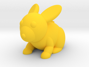 Rabbit (Nikoss'Animals) in Yellow Processed Versatile Plastic