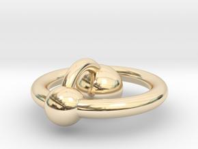 Mini Hydrogen Atom Pendant in 14K Yellow Gold