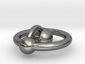 Mini Hydrogen Atom Pendant in Fine Detail Polished Silver