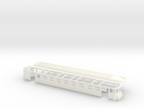 Steuerwagen ABDe MThB Scale TT 1/120 1:120 1-120 in White Processed Versatile Plastic