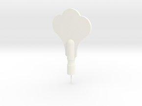 Tuning Peg Push Pin (real size) in White Processed Versatile Plastic