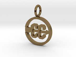 Cross Country Pendant/charm in Polished Bronze
