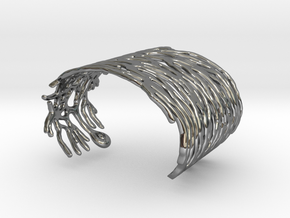 Purkinje Neuron Bracelet in Fine Detail Polished Silver