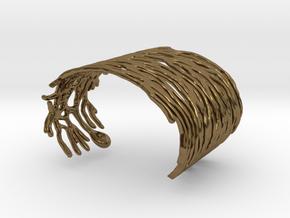 Purkinje Neuron Bracelet in Polished Bronze