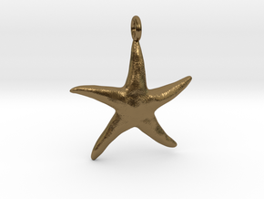 Star Fish With Ring in Polished Bronze