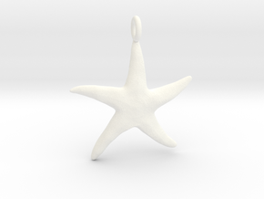 Star Fish With Ring in White Processed Versatile Plastic