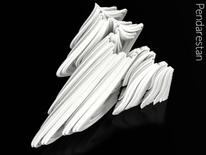 Rhamwave (4 in) in White Strong & Flexible Polished