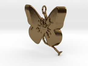 Multiple Sclerosis Neuron Butterfly in Polished Bronze