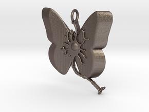 Multiple Sclerosis Neuron Butterfly in Polished Bronzed Silver Steel