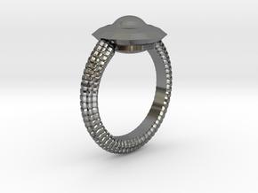 WunderWaffe Ring Alfa Ver2 SIZE10 in Premium Silver