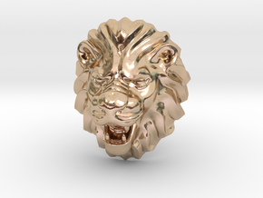 LION RING SIZE 9 1/4 in 14k Rose Gold Plated Brass